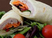 Wraps fraîcheur thon, Kiri, carottes, tomates, salade