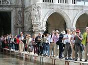 Acqua alta hier Place Saint Marc Venise