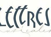 Lettres musicales cours calligraphie latine Nantes.