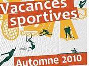 Programme Vacances sportives Automne 2010