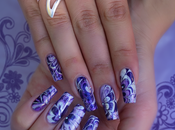 Violet 4ever Nail Water Marble Simple