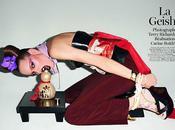 Freja Beha joue Geisha pour Vogue Paris sous l'objectif Terry Richardson