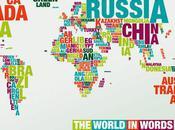 world words Typomap monde typographie