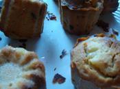 Muffins poires/ chocolat..Sauce carambar