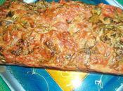 Cake roquette, pancetta parmesan