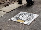 Shepard fairey, invader, london police, flying fortress rendo manholes project milan