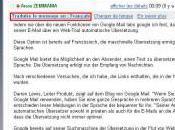 GMail intègre outil traduction automatique