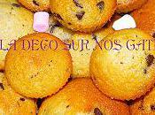 Muffins pepites chocolat coeur nutella