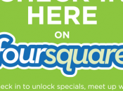 Flunch lance dispositif Foursquare