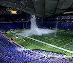 toit Metrodome Minneapolis s'effondre sous poids neige