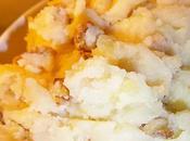 Ecrasé pommes terre l'huile noix concassées accompagnement bien gourmand