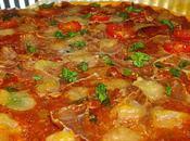Pizza prosciutto, mozzarella, basilic