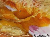 Croque Madame avec tartinade poivron mozzarella.