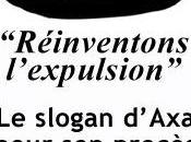 [France Crise Logement] Communiqué: slogan d'Axa pour procès contre Jeudi Noir Réinventons l'expulsion