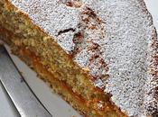 Gâteau noix coco confiture d'abricot