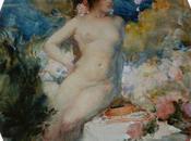 Antoine Calbet (1860-1944) Nymphes, baigneuses, élégantes...