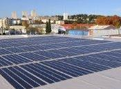 """toit """"photovoltaïque"""" 2340 hypermarché Nîmes"""