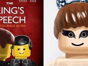 versions LEGO pour affiches films nominés Oscars 2011