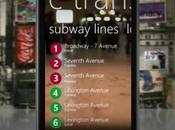 plan métro Yorkais sublimé sous Windows Phone