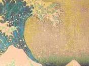Katsukita Hokusaï vieux dessin) VAGUE vues Mont Fuji)