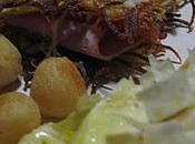 Burger röstis jambon créme champignons