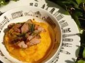 Travers porc sauge purée panais carottes