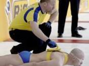 Insolite curling humain