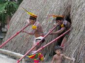 rencontre Kuikuros tribu indienne Xingu Mato Grosso.