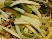 Pousses bambou d'eau porc 茭白炒肉丝 jiāobái chǎo