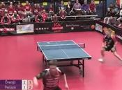 Tennis table coup gagnant l'aveugle