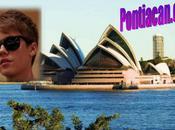 Justin Bieber arrivée Sydney (Vidéo)