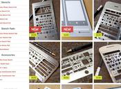 Stencils pour créer prototypes pages main