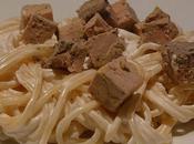 Spaghettis foie gras