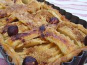 Tarte pommes cannelle cassonade noisettes