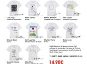 "shirts Uniqlo ""Save Japan"" Lady Gaga, Karl Lagerfeld…"