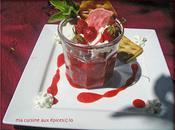 sorbet fraises tagada coulis jardin