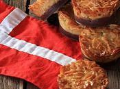 Tartelettes danoises amandes effilées chocolat l'honneur fête nationale danoise