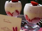 Verrine girly: fraise framboise