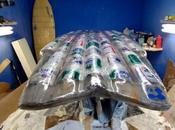 planche surf faite canettes bière