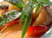 Salade Pêches Blanches Verveine