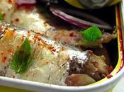 Sardines fausse escabèche, tartare noire crimée piment d'Espelette