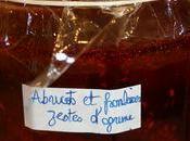Confiture d'abricots framboises zestes d'agrumes