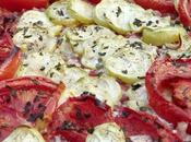 Tarte chèvre, tomates courgettes
