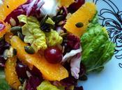 Salade radicchio mandarines graines