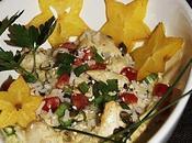 Poulet curry vert lait coco.