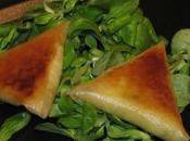 Samossas poulet-basilic-ricotta