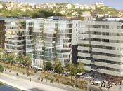 Lyon Confluence Kengo Kuma, architectes Bouygues pour l'îlot