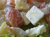 Salade truite fumée deux pommes