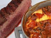 Clafouti tomates cerise basilic parmesan