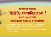 Quick: menu enfant 100% remboursé jusqu'au Novembre 2011.